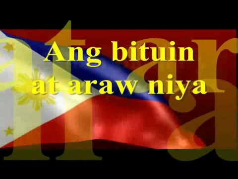 Lupang Hinirang Instrumental Lyrics By Filia video