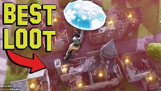 BEST LOOT SPOT on the NEW Fortnite Map (+10 CHESTS)