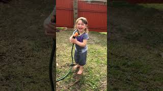 Download My funny baby granddaughter Alesi playing with the hose xxx 3Gp Mp4