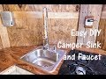 Easy DIY Camper Sink and Faucet - Cargo Trailer RV Conversion