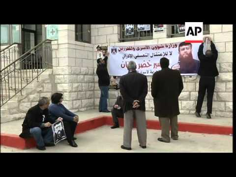 Supporters of hunger-striking Palestinian prisoner clash with soldiers