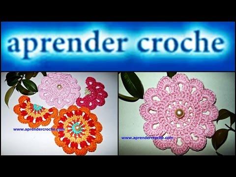 APRENDER CROCHE FLORES 088 FLORES KWAN
