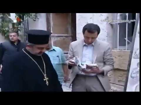 President Bashar Al-Assad visited Maaloula town wished a blessed Easter for all Syrians