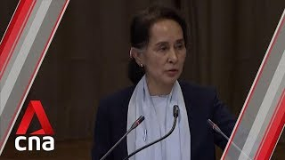 Aung San Suu Kyi defends Myanmar against Rohingya genocide accusations