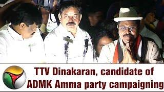 TTV Dinakaran, candidate of ADMK Amma party campaigning at Tondiarpet