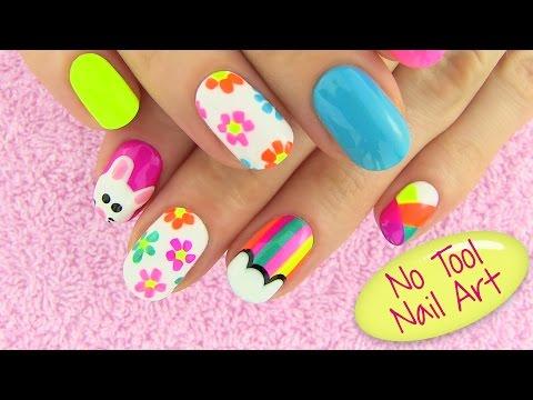 DIY Nail Art Without any Tools! 5 Nail Art Designs - DIY Projects