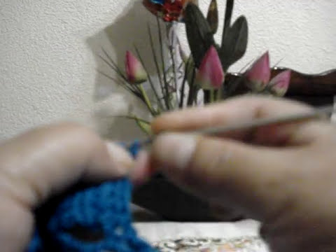 Orilla Tejida Abanicos # 2  Servilletas