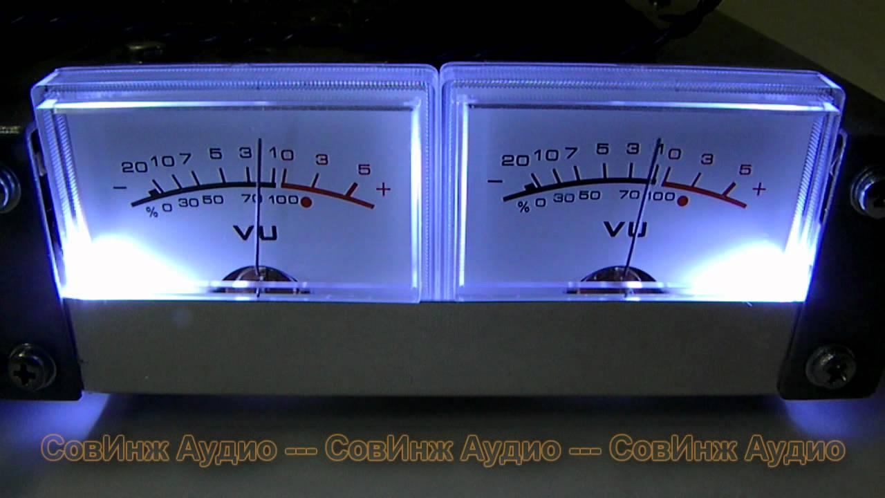 Стрелочный индикатор на макете лампового УНЧ Аскет-М2 Doovi