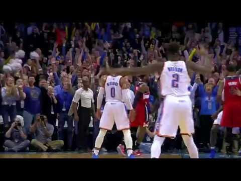 Russell Westbrook hits a CLUTCH Three pointer to send the game to OT! l 11.30.16