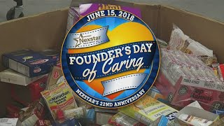 Founders Day of Caring on News 4 at 4