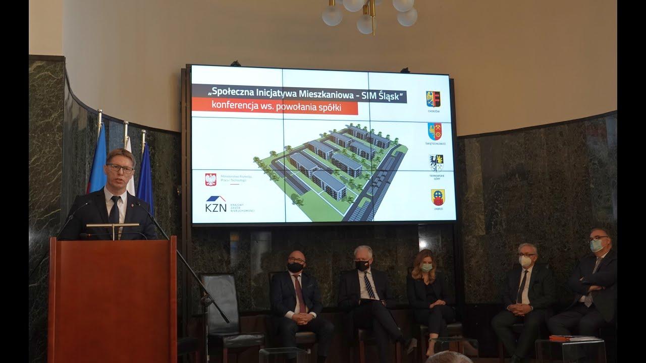 Podpisanie umowy w sprawie powołania spółki mieszkaniowej SIM Śląsk