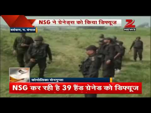 NSG officials seize large stockpile of explosives, hand grenades