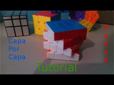 como resolver el cubo 4x4x4 por capas (layer by layer)