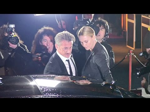 Charlize Theron and Sean Penn arrives at the Cesar Film Award in Paris