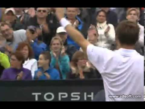 Nicolas Mahut wins Hertogenbosch 2013 against Stanislas Wawrinka  Last points and celebration