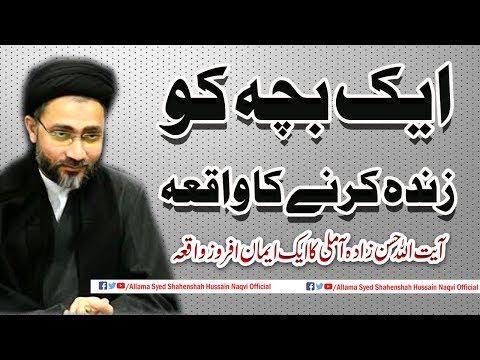 Ayyat Ullah Hassan Zaida Amli ka ek Bache ko Zinda karne ka waqia by Allama SyedShahenshah