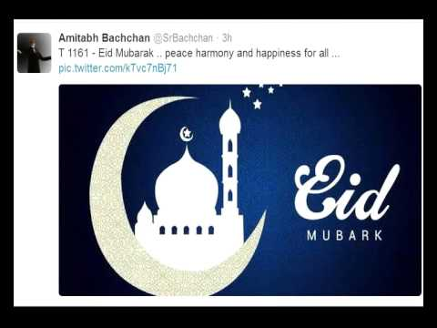 Eid Mubarak says Bollywood fraternity!