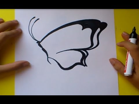 Como dibujar una mariposa paso a paso 3 | How to draw a butterfly 3
