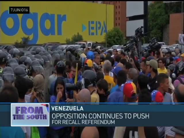 From Venezuela Iain Bruce at Opposition Marches