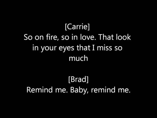 Remind Me -- Brad Paisley and Carrie Underwood