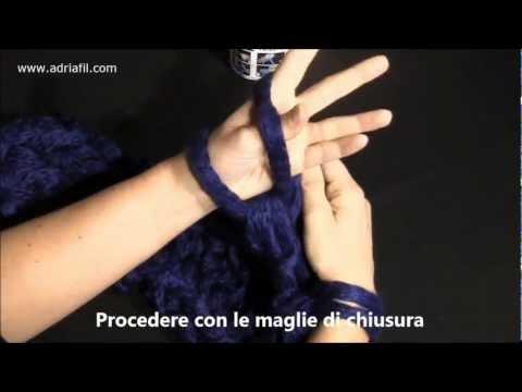 """Filato """"Magia"""" di Adriafil – Sciarpa realizzata con metodo """"Fai da te"""""""