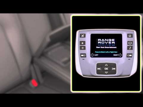 All-New Range Rover: Rear Seat Entertainment