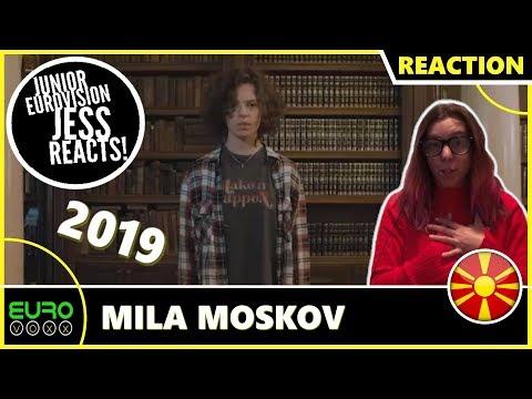 NORTH MACEDONIA JUNIOR EUROVISION 2019 REACTION: Mila Moskov - Fire | JESS REACTS!