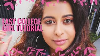 College girl makeup tutorial | Youthful soft makeup | Chermel's World