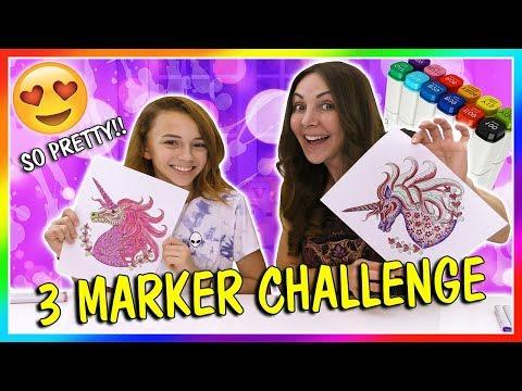 3 MARKER CHALLENGE | We Are The Davises