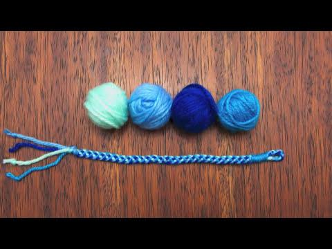 Mini tutorial # 3: pulseras de cordón tejido con 4 hebras