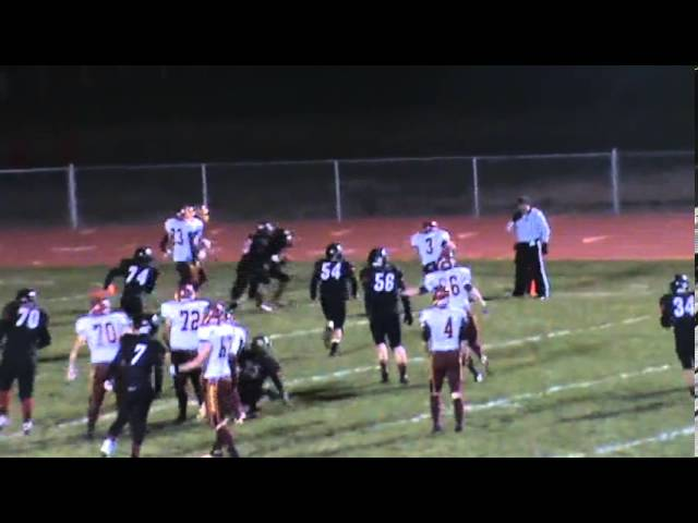 10-4-13 - Alec Petterson makes this 5 yard touchdown catch (Brush 40, Strasburg 6)