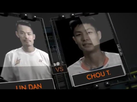 Yonex German Open 2016 | Badminton F M5-MS | Chou Tien Chen Vs Lin Dan