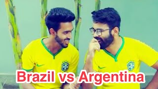 World cup things   Funny video 2018   Brazil vs Argentina   Chittainga Bullet   Asif Ahmed Shovan