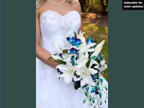 Blue Orchids Bouquet Set Of Pictures   Blue Orchids Bouquet Romance