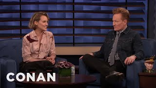 Taylor Schilling & Conan Talk About Growing Up In Boston - CONAN on TBS