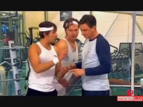 Borut Pahor v fitnesu - Jurij Zrnec in Lado Bizovičar
