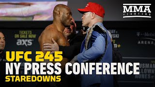 UFC 245 Press Conference Staredowns - MMA Fighting
