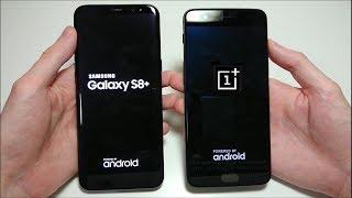 OnePlus 5 vs Samsung Galaxy S8 Plus Speed Test!