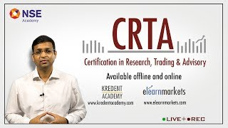 Best Comprehensive Practical Career Course on Financial Market - CRTA by NSE Academy
