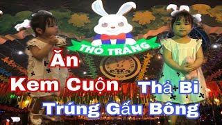 Thả Bi Trúng Thưởng Gấu Bông và Ăn Kem Cuộn - Công Viên Thỏ Trắng   SauSoc TV