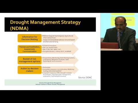 ILSI India: Drought And Drought Management (Dr. Jagdish Rane)