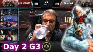 G2 eSports vs Team WE | Day 2 LoL MSI 2017 Group Stage | G2 vs WE Mid Season Invitational