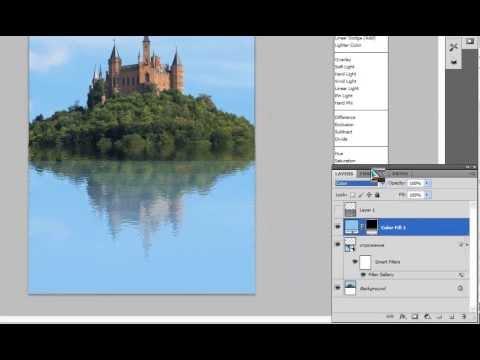 Как сделать отражение от предмета в фотошопе