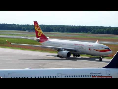 Hainan Airlines Airbus A330-243 B-6133 Landing - Taxiing - Engine - Berlin Tegel Airport