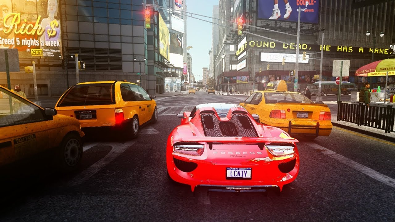 gta 4 porsche 918 spyder in 4k youtube. Black Bedroom Furniture Sets. Home Design Ideas
