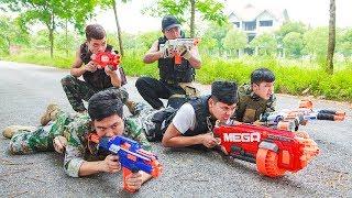 LTT Game Nerf War : Winter SEAL X Nerf Guns Fight Criminal Group Legendary Warrior Nerf Mega