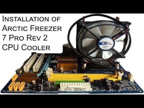 Installation of Arctic Freezer 7 Pro Rev 2 CPU Cooler