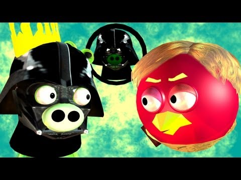 Game-Mashup: ANGRY BIRDS STAR WARS —  MORTAL KOMBAT part2 ♫ 3D animated ☺ FunVideoTV — Style ; -))