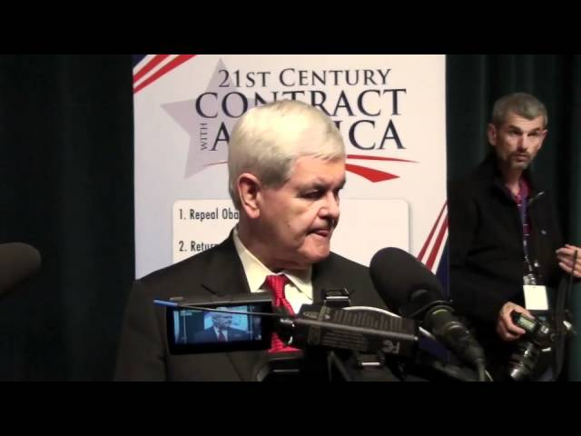 "Newt Gingrich unveils new ""Contract with America"""