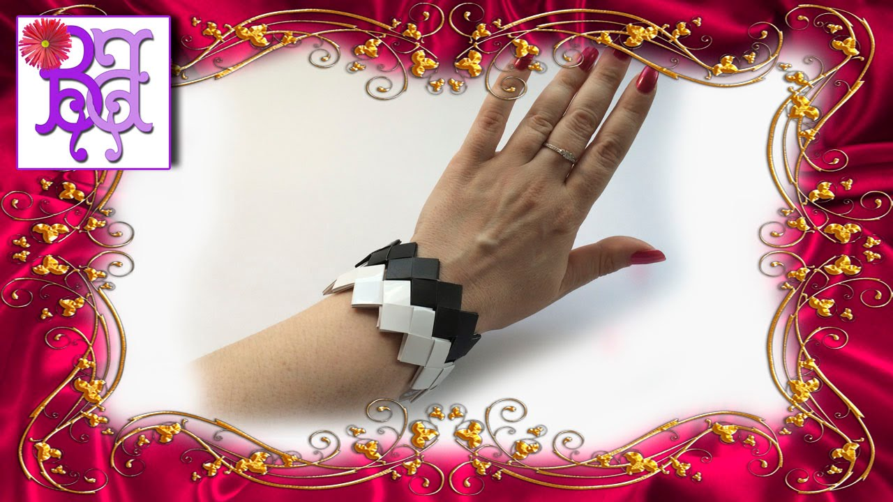 Origami Square Bracelets 9 Steps with Pictures